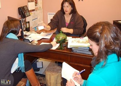Center Director, Laurie Morrison, action planning with NLI staff