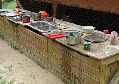 Nature play kitchen