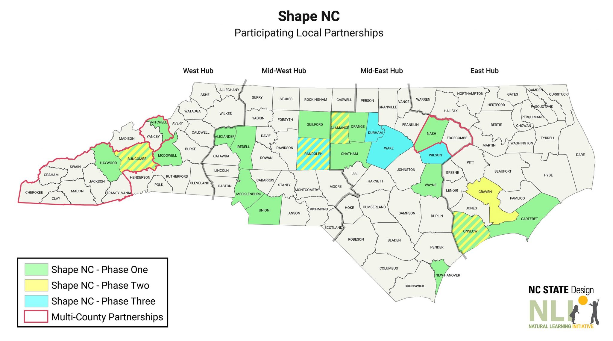 Shape NC Project Site Locations