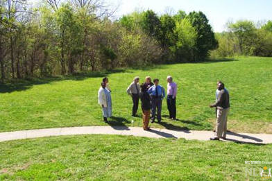 Stakeholders evaluate the site