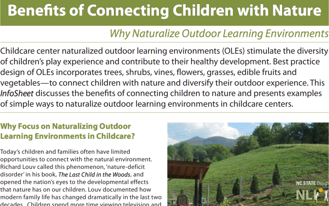 Benefits of Connecting Children with Nature
