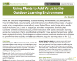 Using Plants to Add Value to the Outdoor Learning Environment