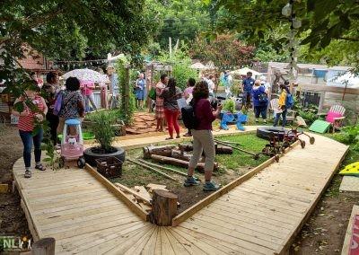 Primary pathway/raised timber boardwalk