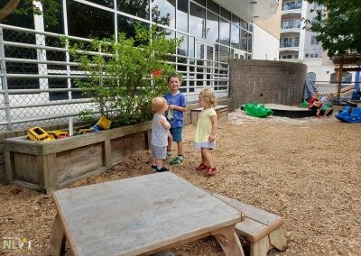 Raised planters provide opportunity to interact with vegetation