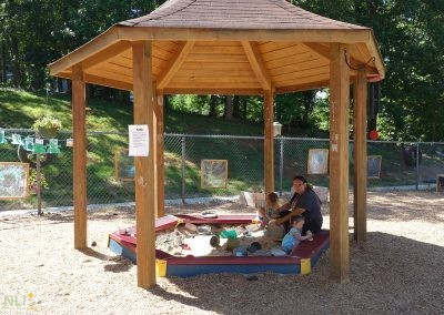 Sheltered preschool sand play area