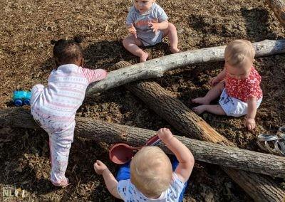 Balancing and climbing logs