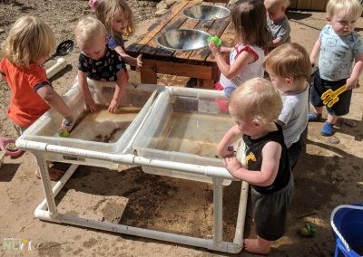 Water play and mud kitchen