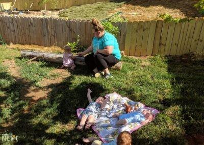 Infants enjoying their new play area